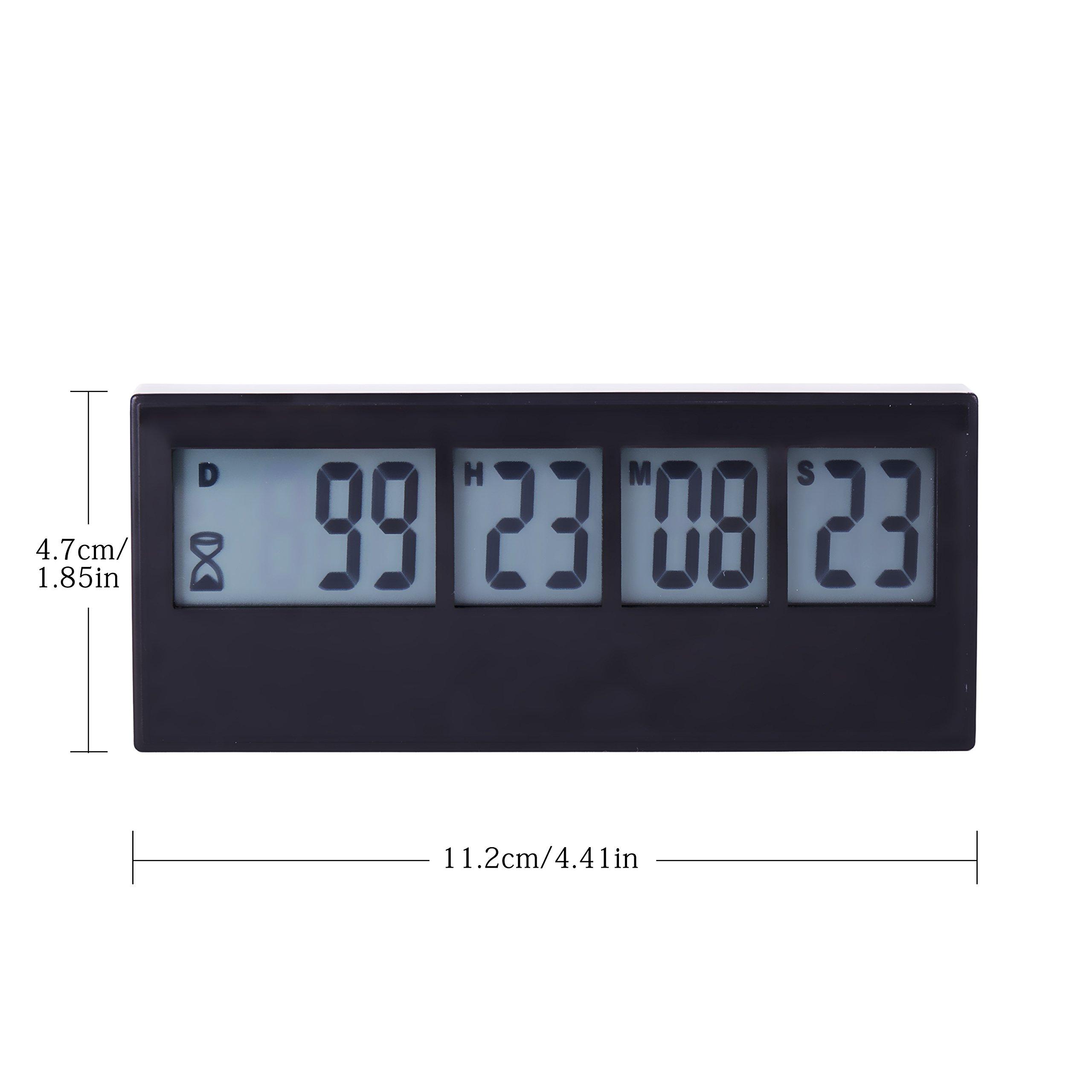 Aimilar Digital Kitchen Countdown Timer Magnetic Large Screen Clock ...